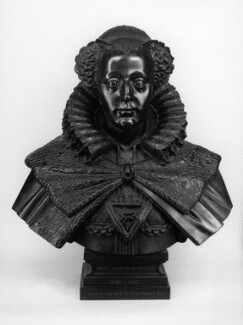 Mary, Queen of Scots, by Elkington & Co, cast by  Domenico Brucciani, after  Cornelius and William Cure, 1870, based on a work of circa 1606-1616 - NPG 307 - © National Portrait Gallery, London