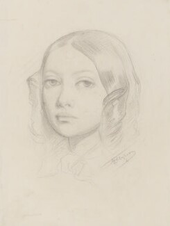 Augusta Mathews (née Leighton), by Frederic Leighton, Baron Leighton - NPG 2141(b)