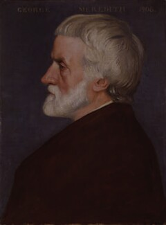 George Meredith, by William Strang, 1908 - NPG 1908 - © National Portrait Gallery, London