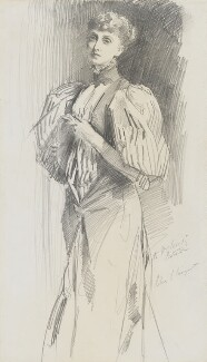 Alice Meynell (née Thompson), by John Singer Sargent - NPG 2221