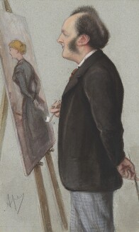 Sir John Everett Millais, 1st Bt, by Carlo Pellegrini - NPG 2626
