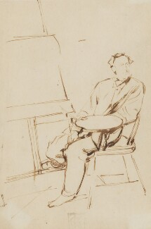 Sir John Everett Millais, 1st Bt, by Charles Samuel Keene - NPG 1117