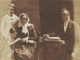 Ebenezer Miller and his family, by David Octavius Hill, and  Robert Adamson - NPG P6(138)