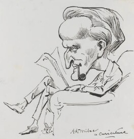 A.A. Milne, by Harry Furniss, circa 1915-circa 1925 - NPG 3494 - © National Portrait Gallery, London