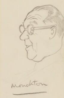 Walter Monckton, 1st Viscount Monckton, by Sir David Low - NPG 4529(250)