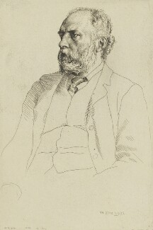 William Cosmo Monkhouse, by William Strang - NPG 1884