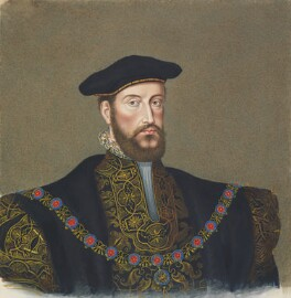Anthony Browne, 1st Viscount Montagu, copy by George Perfect Harding, after  Unknown artist - NPG 2398
