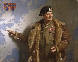 Bernard Law Montgomery, 1st Viscount Montgomery of Alamein, by Francis Owen ('Frank') Salisbury, 1945 - NPG L165 - © private collection; on loan to the National Portrait Gallery, London