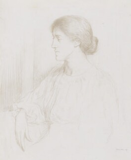 May Morris, by Sir William Rothenstein, 1897 -NPG 3049 - © National Portrait Gallery, London