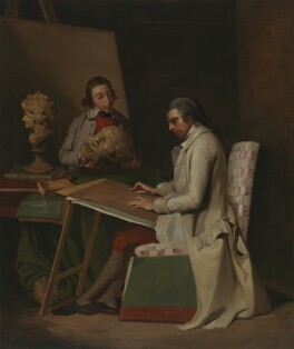 John Hamilton Mortimer with a student, after John Hamilton Mortimer, circa 1765 - NPG 234 - © National Portrait Gallery, London