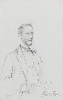 Sholto John Douglas, 18th Earl of Morton, by Frederick Sargent - NPG 1834(v)
