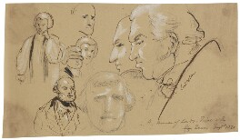 Various heads including William Nelson, 1st Earl Nelson and Frederick, Duke of York, by Sir George Hayter, circa 1820 - NPG 2662(21) - © National Portrait Gallery, London
