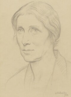 Evelyn Jane Sharp (Mrs H.W. Nevinson), by William Rothenstein - NPG 4001
