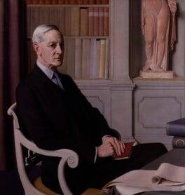 Sir Henry John Newbolt, by Meredith Frampton - NPG 4664