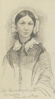 Florence Nightingale, by Sir George Scharf, 28 December 1857 - NPG 1784 - © National Portrait Gallery, London