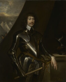 Spencer Compton, 2nd Earl of Northampton, copy by Henry Peart the Elder, after  Cornelius Johnson (Cornelius Janssen van Ceulen), and  Sir Anthony van Dyck - NPG 1521