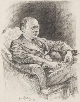 Alfred Noyes, by Bernard Partridge - NPG 3673