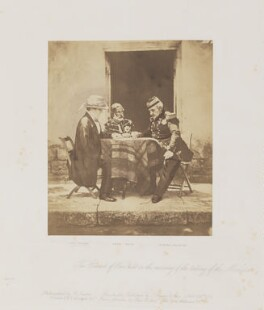 The Council of War on the day of the taking of the Mamelon Quarries, 7 June 1855, by Roger Fenton, 1855 - NPG P49 - © National Portrait Gallery, London