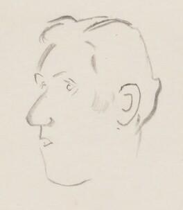 John Osborne, by Sir David Low, 1950s? - NPG 4529(258a) - © Solo Syndication Ltd