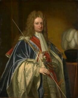 Robert Harley, 1st Earl of Oxford, after Sir Godfrey Kneller, Bt, based on a work of  1714 - NPG 16 - © National Portrait Gallery, London