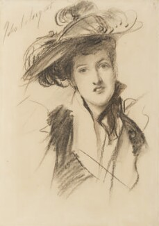 Margaret Emma Alice ('Margot') Asquith (née Tennant), Countess of Oxford and Asquith, by John Singer Sargent - NPG 4155