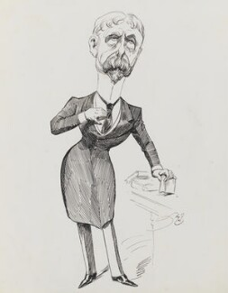 Sir (Horatio) Gilbert George Parker, 1st Bt, by Harry Furniss - NPG 3498