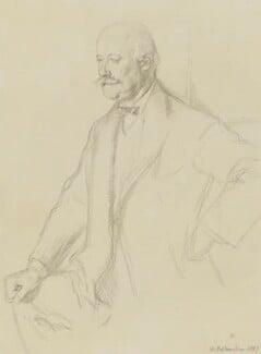 Sir (Charles) Hubert Hastings Parry, 1st Bt, by Sir William Rothenstein, 1897 - NPG 3877 - © National Portrait Gallery, London