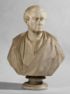 Sir Robert Peel, 2nd Bt, reduced version by Matthew Noble, 1851, based on a work of 1850 - NPG 596a - © National Portrait Gallery, London