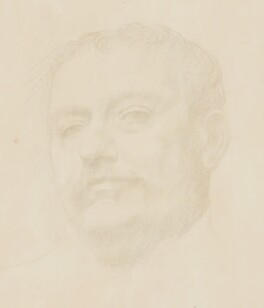 Sir Claude Phillips, by Alphonse Legros - NPG 2431