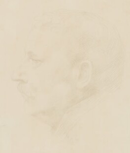 Sir Claude Phillips, by Alphonse Legros - NPG 2432