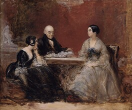 Maria-Louisa Phipps (née Campbell), Samuel Rogers, Caroline Elizabeth Sarah Norton, by Frank Stone, circa 1845 - NPG 1916 - © National Portrait Gallery, London