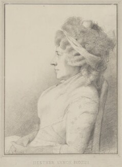 Hester Lynch Piozzi (née Salusbury, later Mrs Thrale), by George Dance - NPG 1151