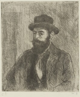 Lucien Pissarro, by Camille Pissarro, 1890 - NPG  - © National Portrait Gallery, London