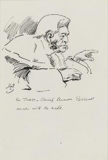 Sir Charles Edward Pollock, by Harry Furniss - NPG 3598