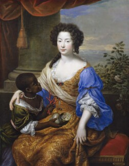 Louise de Kéroualle, Duchess of Portsmouth with an unknown female attendant, by Pierre Mignard - NPG 497