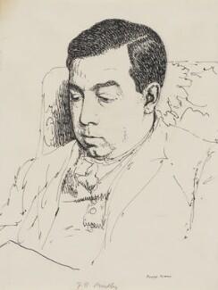 J.B. Priestley, by Powys Evans - NPG 5109