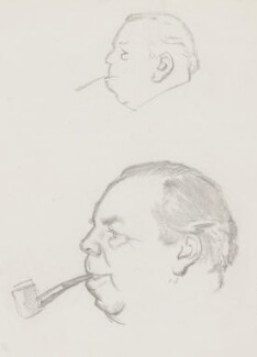 J.B. Priestley, by Sir David Low - NPG 4529(285)
