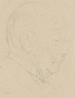 John William Strutt, 3rd Baron Rayleigh, by William Rothenstein - NPG 3879