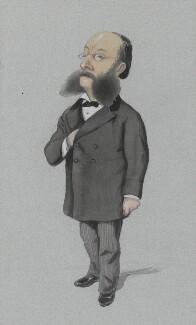 (Paul) Julius de Reuter, Baron de Reuter (né Israel Beer Josaphat), by Melchiorre Delfico, published in Vanity Fair 14 December 1872 - NPG 3275 - © National Portrait Gallery, London