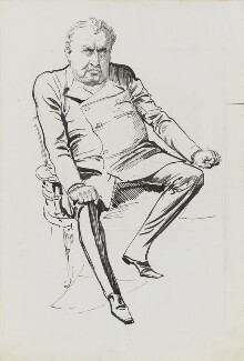 Cecil John Rhodes, by Harry Furniss - NPG 3404
