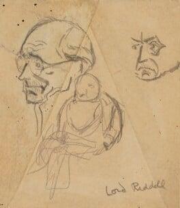 George Riddell, Baron Riddell, by Sir David Low - NPG 4529(298)