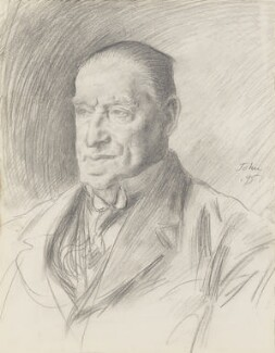 Arthur Roberts, by Augustus Edwin John, 1925 - NPG 2362 - © National Portrait Gallery, London