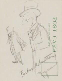 Sir Johnston Forbes-Robertson, by Sir David Low, circa 1920s-1937 - NPG 4529(307) - © Solo Syndication Ltd