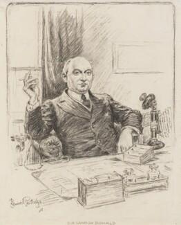 Sir Landon Ronald, by Bernard Partridge - NPG 3676
