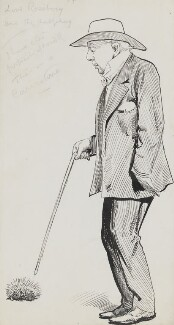 Archibald Philip Primrose, 5th Earl of Rosebery, by Harry Furniss, 1880s-1900s - NPG 3406a - © National Portrait Gallery, London