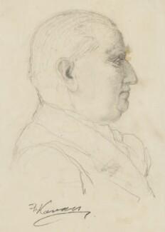 Sir Edward Denison Ross, by Frank Kovacs - NPG 4203b
