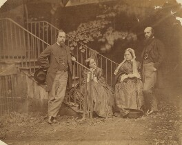 The Rossetti Family, by Lewis Carroll (Charles Lutwidge Dodgson), 7 October 1863 -NPG P56 - © National Portrait Gallery, London