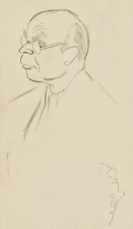 John Rothenstein, by Sir David Low - NPG 4529(315)