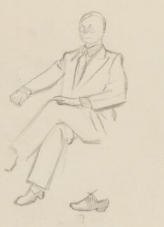 John Rothenstein, by Sir David Low - NPG 4529(319)