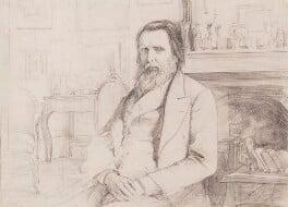 John Ruskin, by Theodore Blake Wirgman - NPG 3035